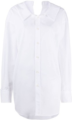 Marni Back V Cut-Out Detail Oversized Shirt