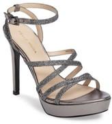 Pelle Moda Women's Metallic Platform Ankle Strap Sandal