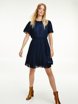 Tommy Hilfiger Pleated Fit and Flare Midi Dress