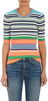 TOMORROWLAND Women's Striped Cotton-Blend Top