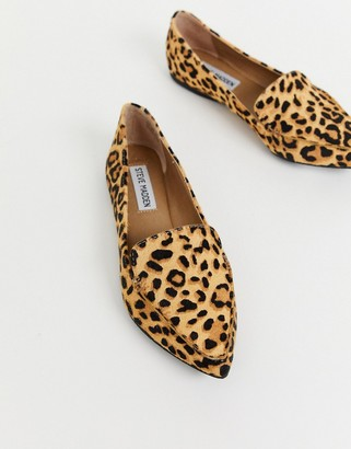 Steve Madden Feather flat shoes in leopard print