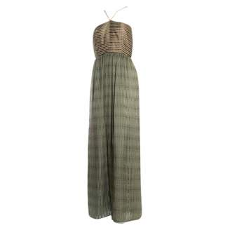 N. Non Signé / Unsigned Non Signe / Unsigned \N Green Silk Dresses