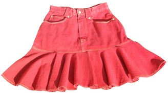 Christian Lacroix Red Cotton Skirt for Women Vintage