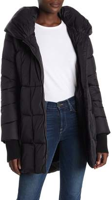 French Connection Pillow Hood Water-Repellent Zip Puffer Jacket