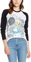 Disney Women's Wonderland Alice & Flowers Tops