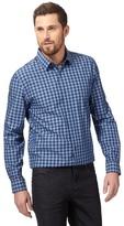 J By Jasper Conran Big And Tall Blue Gingham Print Shirt