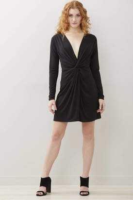 Abbeline Black Knot Front Dress Black XS
