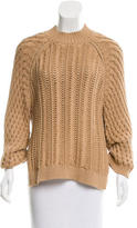 3.1 Phillip Lim Crew Neck Three-Quarter Sleeve Sweater