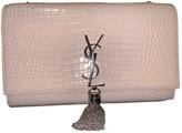 Saint Laurent Pompom Kate Beige Leather Clutch bags