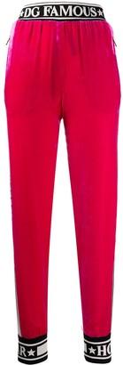 Dolce & Gabbana Velour Logo Track Pants