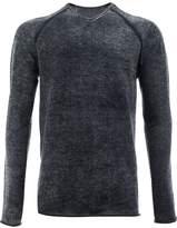 Label Under Construction mottled pattern jumper