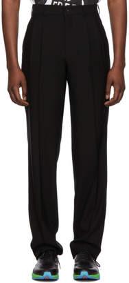 Comme des Garcons Black Cashmere and Wool Barathea Trousers