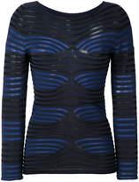 Giorgio Armani woven stripe top