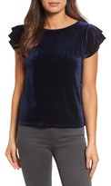 Halogen Women's Flutter Sleeve Velvet Top
