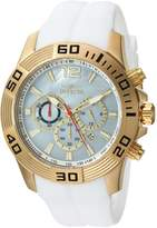Invicta Men's 'Pro Diver' Quartz Stainless Steel and Silicone Casual Watch, Color:White (Model: 20296)