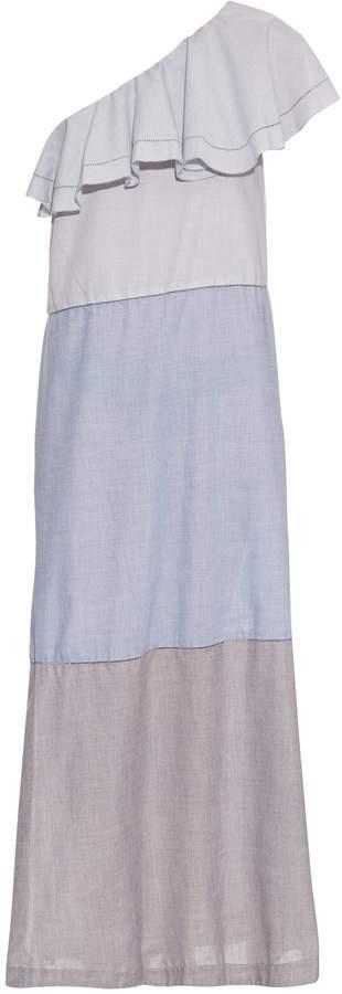 Lisa Marie Fernandez Arden one-shoulder flounce dress