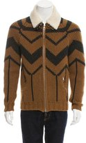 Louis Vuitton Shearling-Trimmed Camelhair Sweater