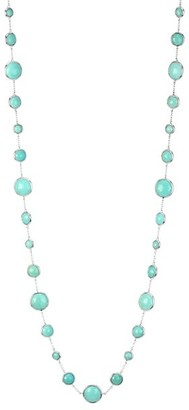 Ippolita Lollipop Long Lollitini Sterling Silver & Turquoise Doublet Necklace