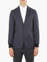 Éditions MR Navy Ribbed-Cuff Blazer