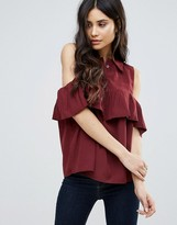 AX Paris Cold Shoulder Frill Blouse