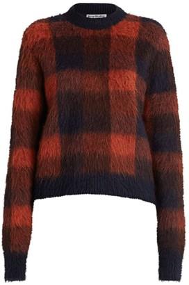 Acne Studios Check Alpaca-Blend Knit Sweater