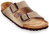 Birkenstock Men's Arizona Soft Footbed Two Band Suede Sandals