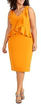 Rachel Roy Plus Nikita Ruffled Sheath Dress