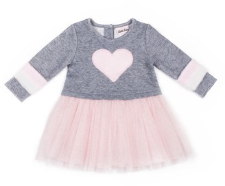 Little Lass Toddler Girl Quilted Tulle Dress