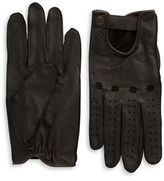 Black Brown 1826 Perforated Leather Driving Gloves