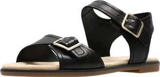 Clarks Women's Bay Primrose Ankle Strap Sandals White (White Leather 6.5 UK