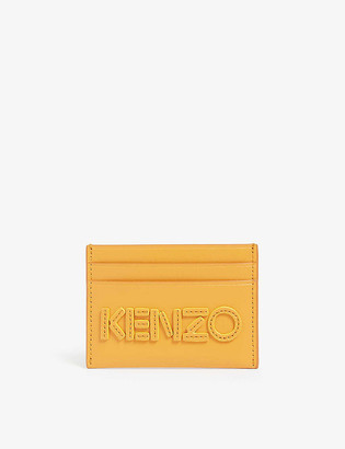Kenzo Leather logo card holder