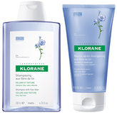 Klorane Volumizing Hair Set: Shampoo & Conditioner with Flax Fiber