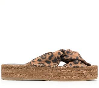 Jimmy Choo Daja 45mm leopard print sandals
