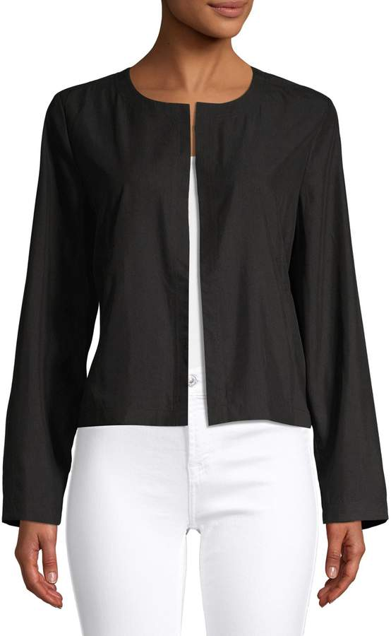 Eileen Fisher Open Front Long Sleeve Jacket
