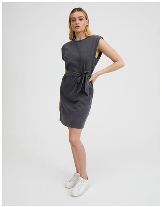 Miss Shop Shoulder Pad Tee Dress