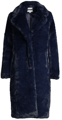 Apparis Siena Longline Faux-Fur Coat
