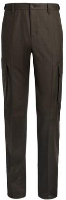 Corneliani Melange Wool Cargo Trousers