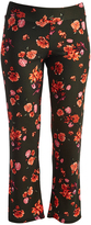 Glam Green & Pink Floral Straight-Leg Pants - Plus