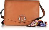 Paula Cademartori Lola Cognac Leather Shoulder Bag