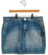 Rykiel Enfant Girls' Embellished Denim Skirt