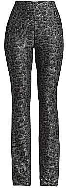 St. John Women's Sequin Animal Print Trousers - Size 0