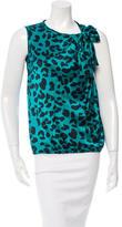David Szeto Leopard Print Silk Top