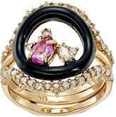 Alexis Bittar Enamel Framed Gemstone Band w/ Removable Crystal Band Ring