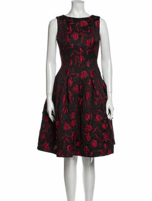 Oscar de la Renta 2013 Knee-Length Dress Black