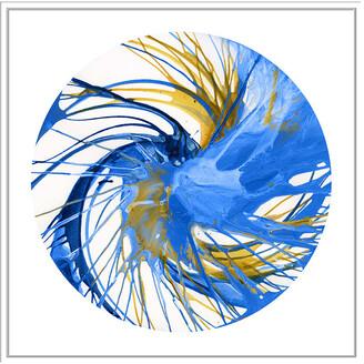 Jonathan Bass Studio Spin Art 30, Decorative Framed Hand Embellished Canvas
