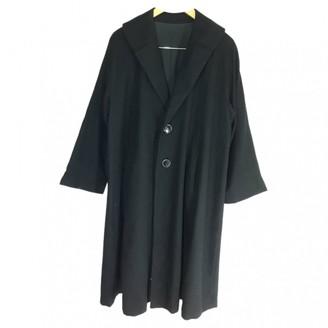 Yohji Yamamoto Black Wool Coat for Women Vintage