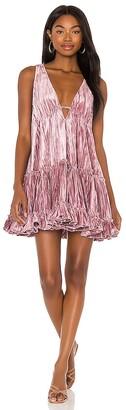 Free People Pleated Plush Swing Dress