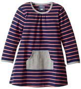 Toobydoo Orange Stripe Pocket Dress (Infant/Toddler)