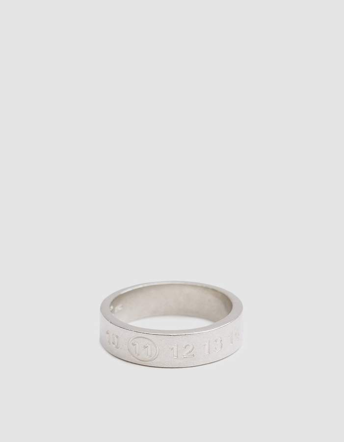 Maison Margiela Silver Numbers Ring