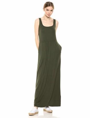 Daily Ritual Jersey Sleeveless Empire-Waist Maxi Dress Casual